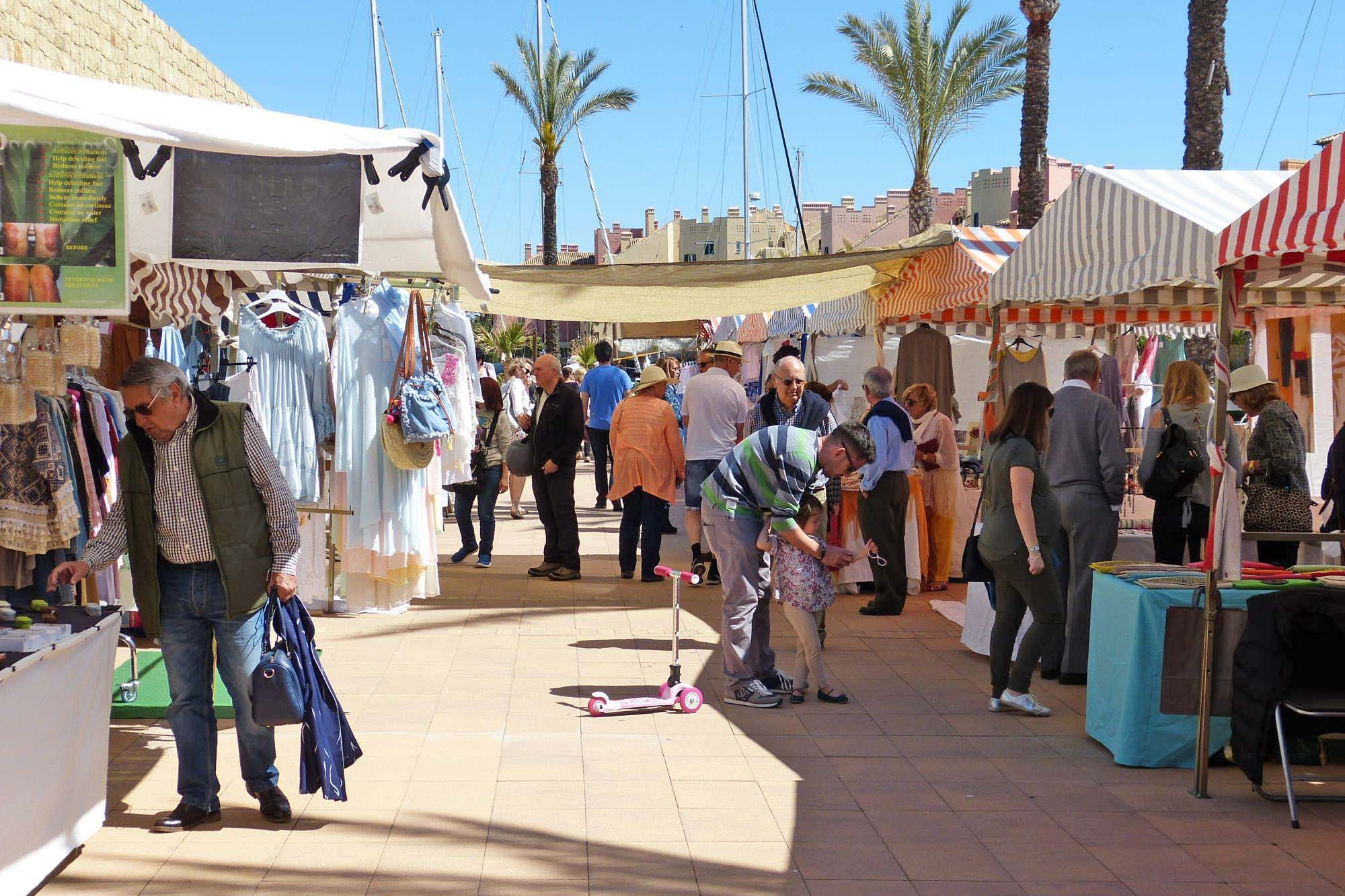 Sunday Andalusian Market in Sotogrande Marina