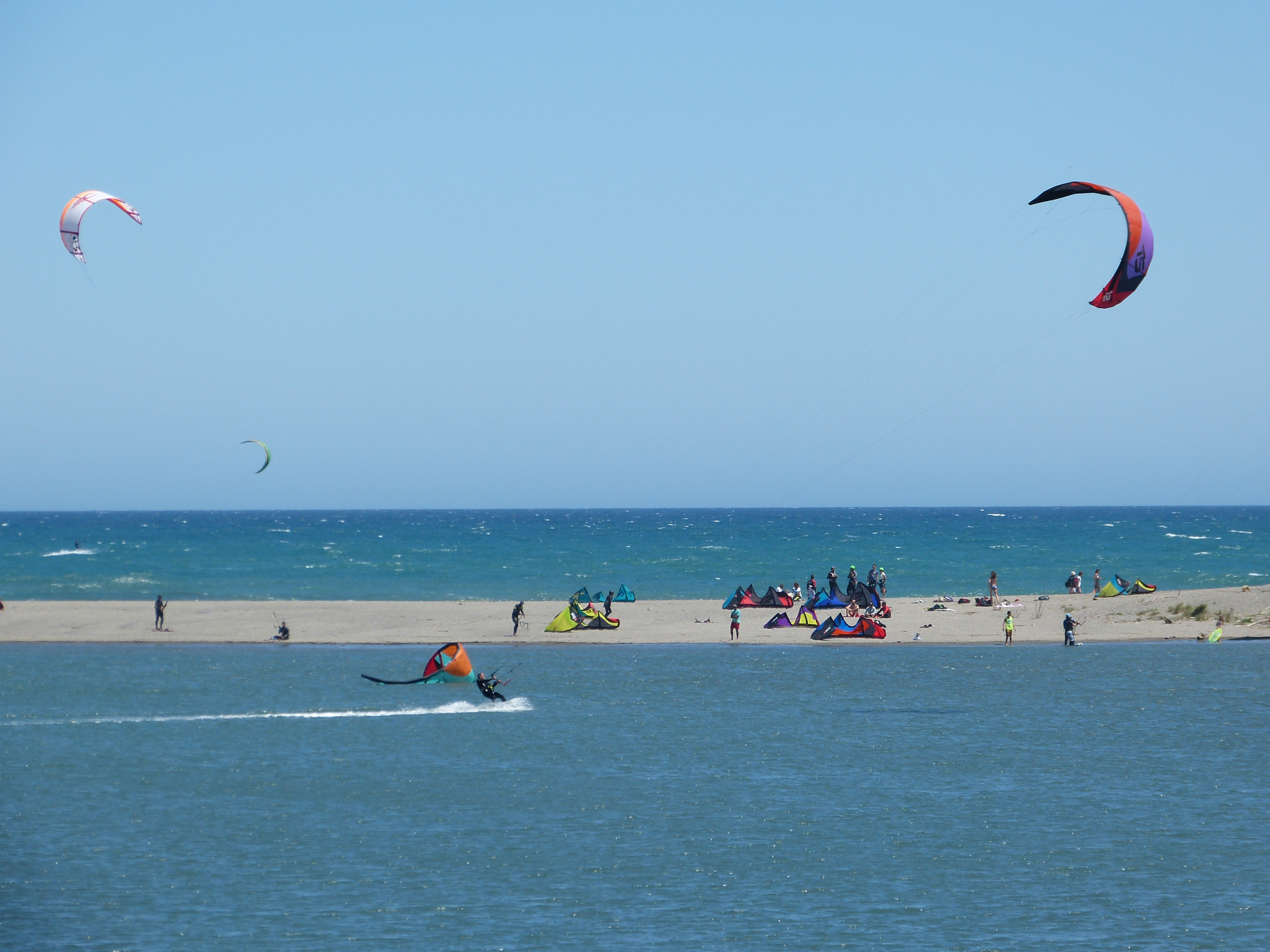 Kite surfers in Sotogrande