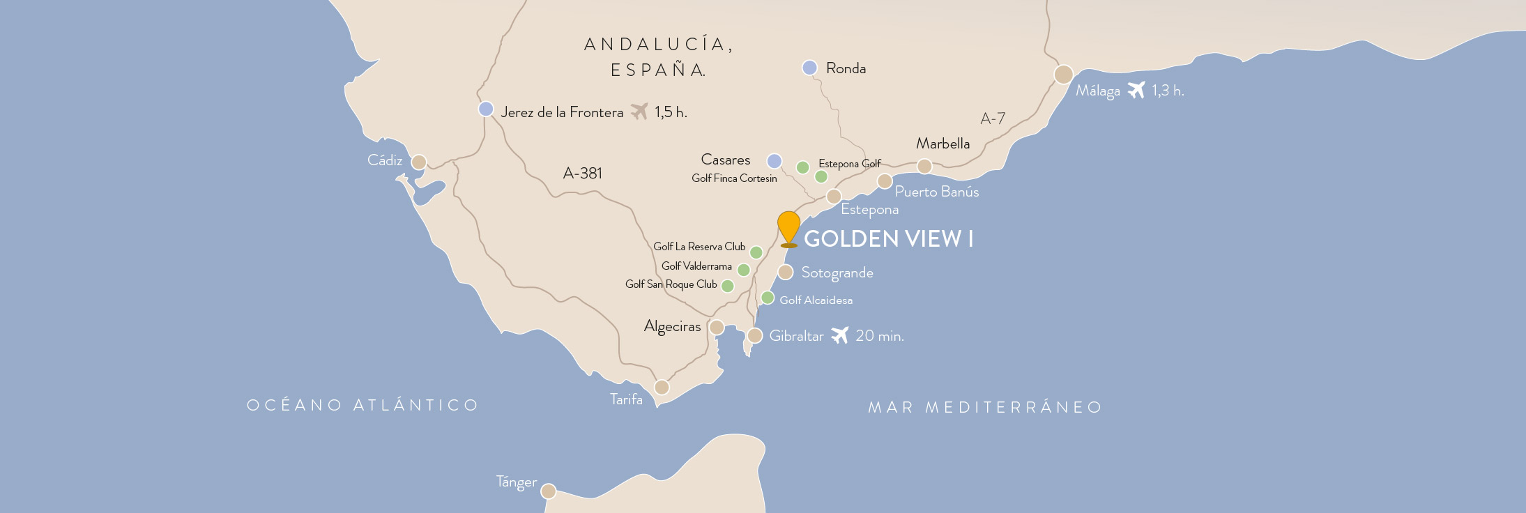 Bahia de Las Rocas, the perfect location