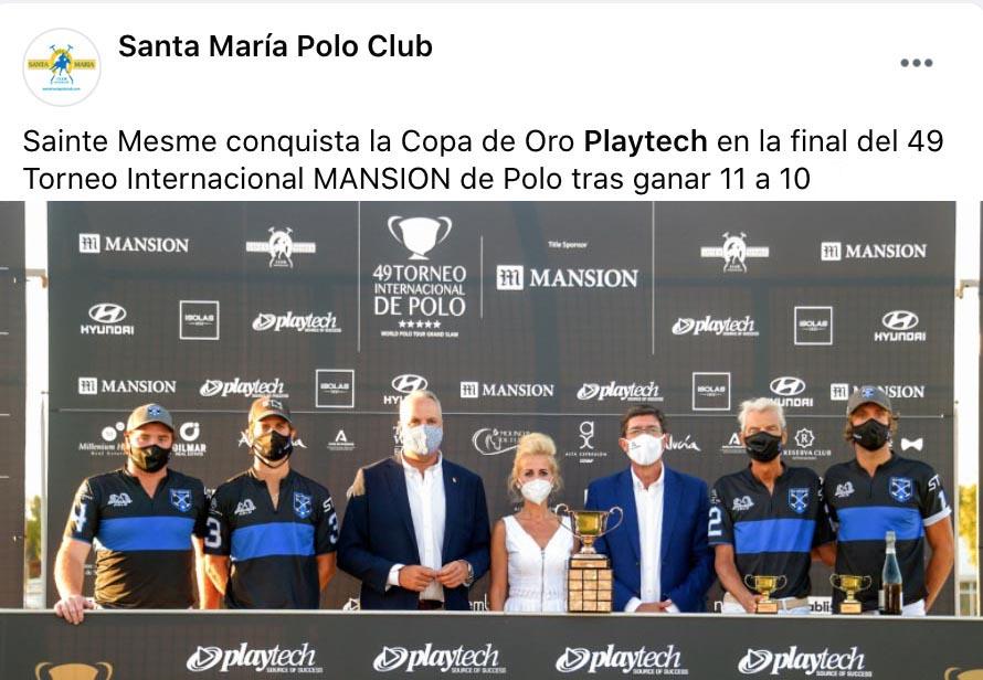 SAINTE MESME GANA LA COPA DE ORO EN EL FINAL DE FIESTA DEL SANTA MARÍA POLO CLUB-FACEBOOK