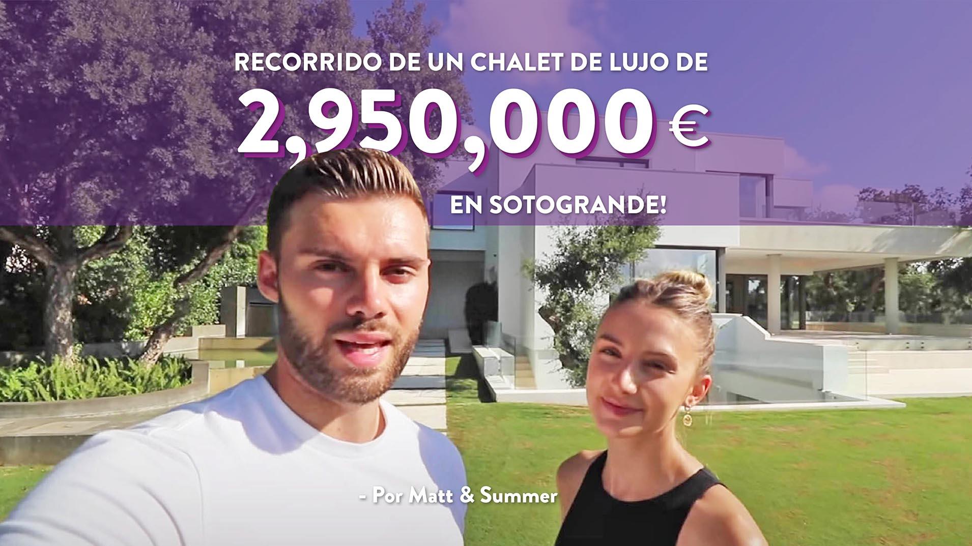 Influencers recorren una villa lujosa de 2,950,000€ en Sotogrande