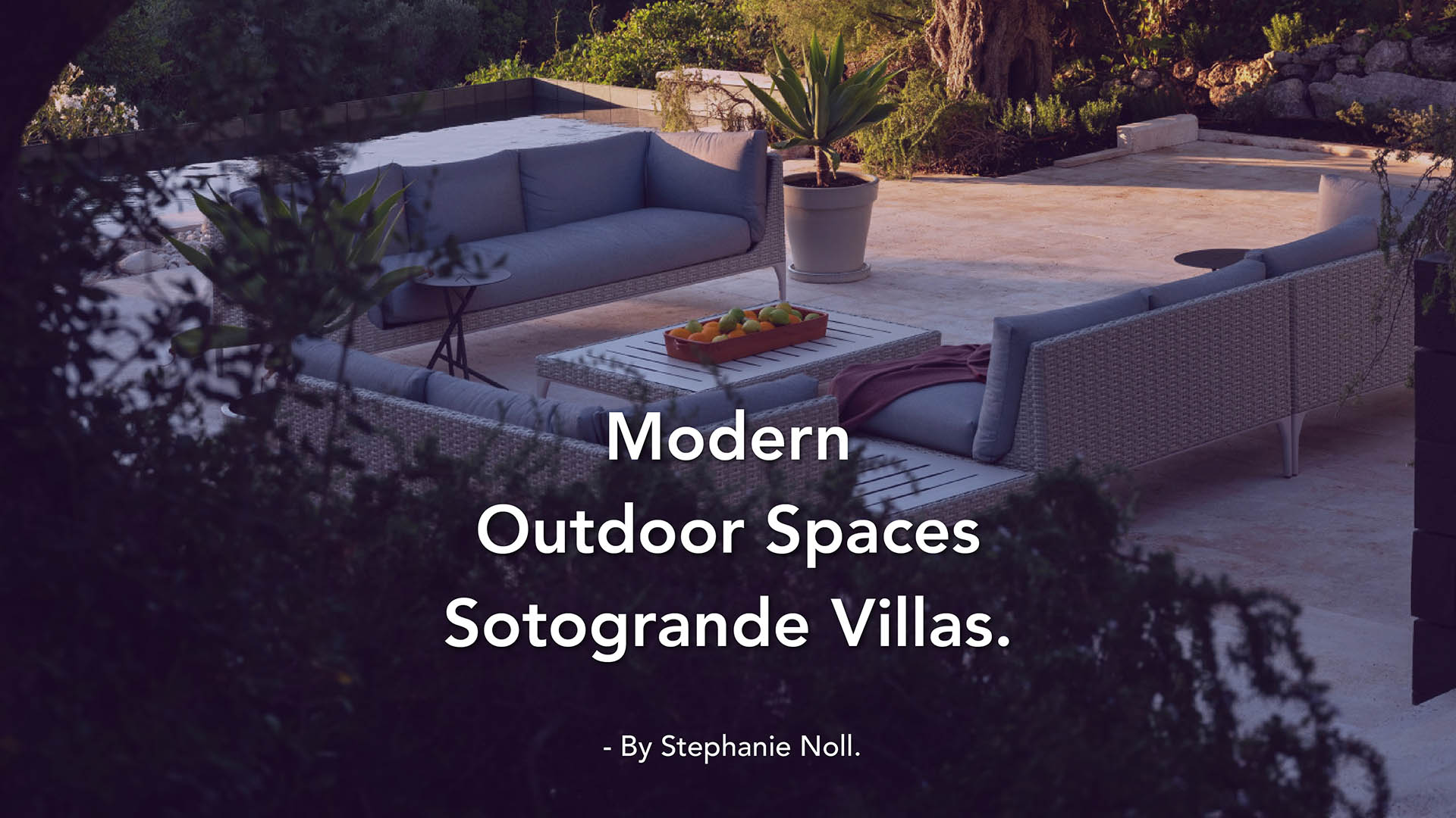 The new must-have in Sotogrande in 2021: Outdoor Area!
