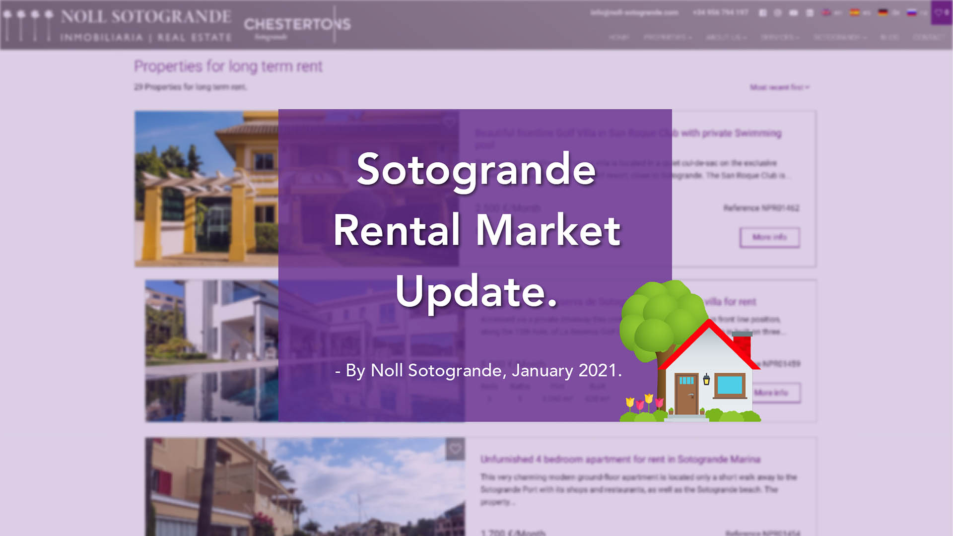Noll Sotogrande reports a surprising increase in the rental market