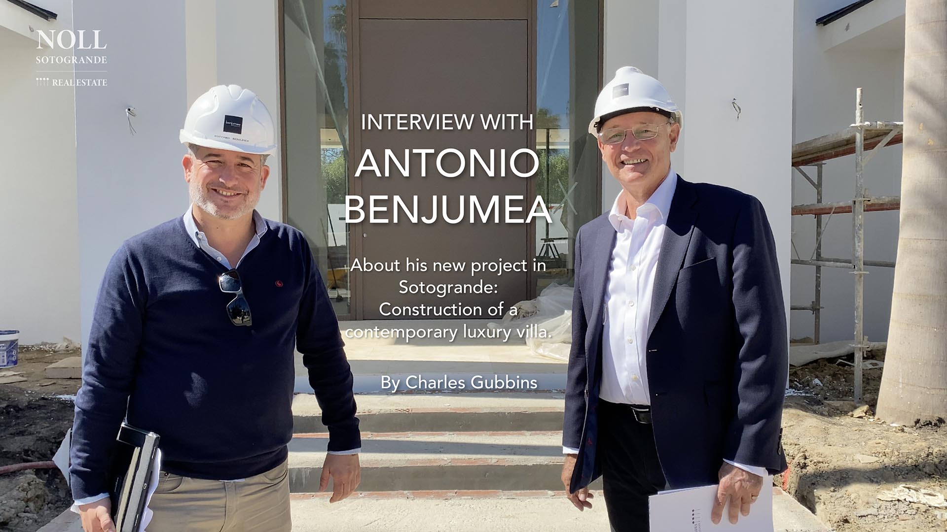 Benjumea Architects about the construction of a NEW LUXURY VILLA in Sotogrande, Spain.