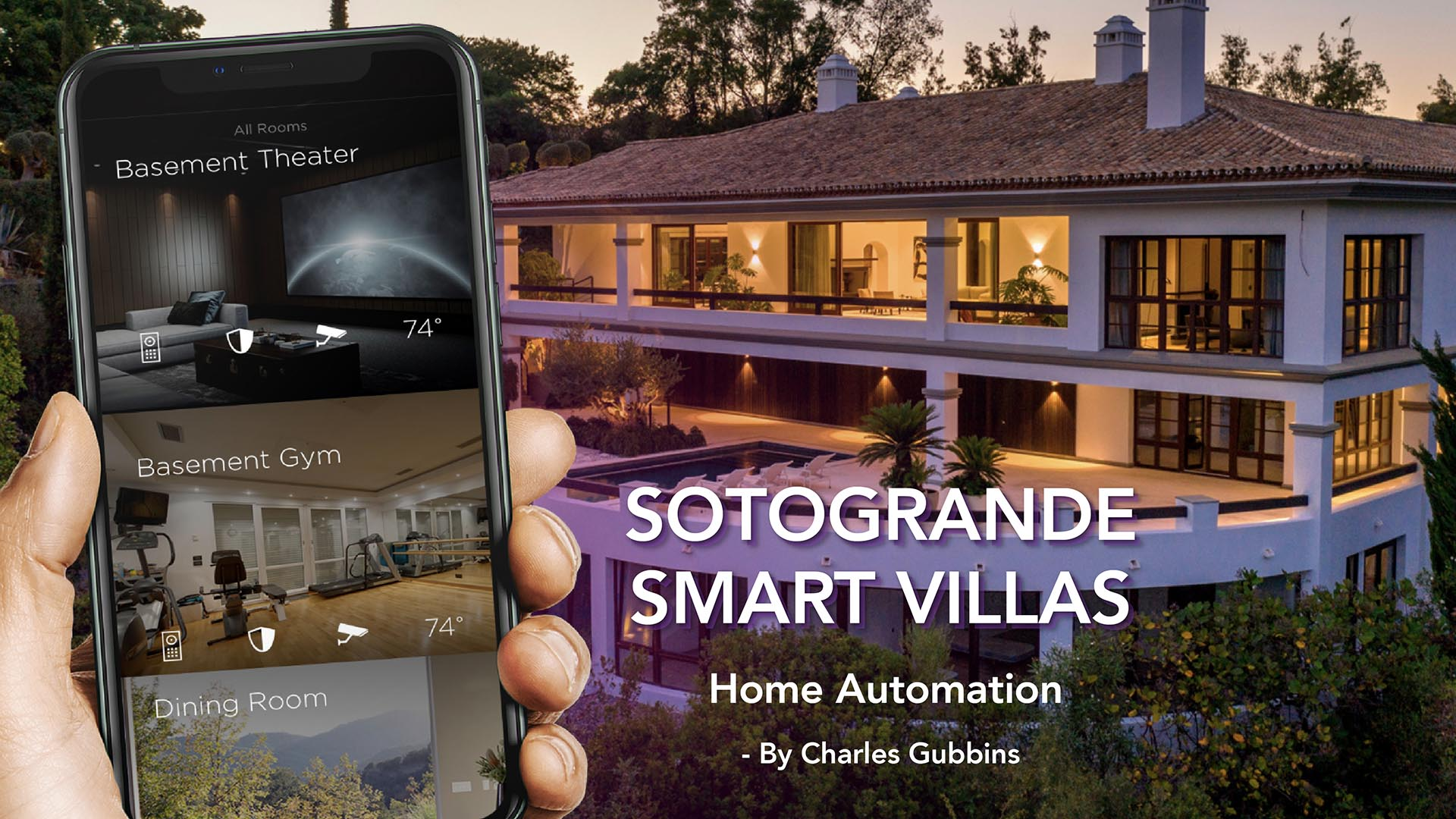 Smart Homes Sotogrande /// Hand Mockup Designed by mockup.store / Freepik