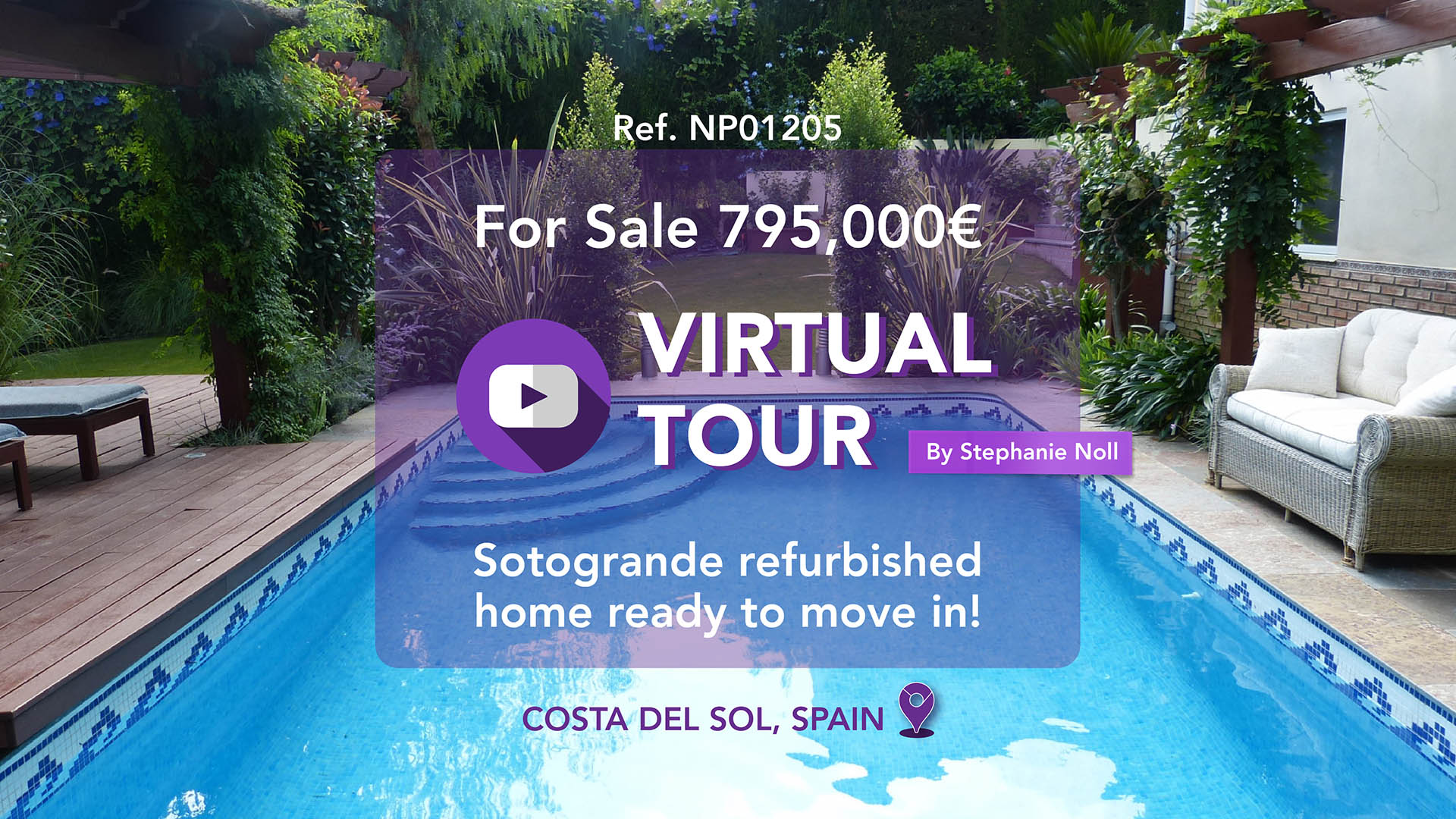 Virtual Tour - Stephanie shows this lovely family home in Sotogrande!