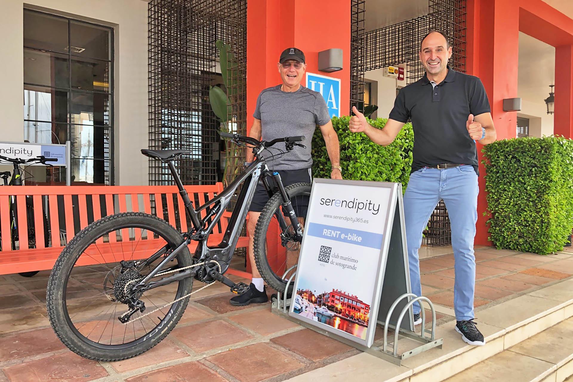Test drive of Serendipity's E-Bike at Sotogrande!