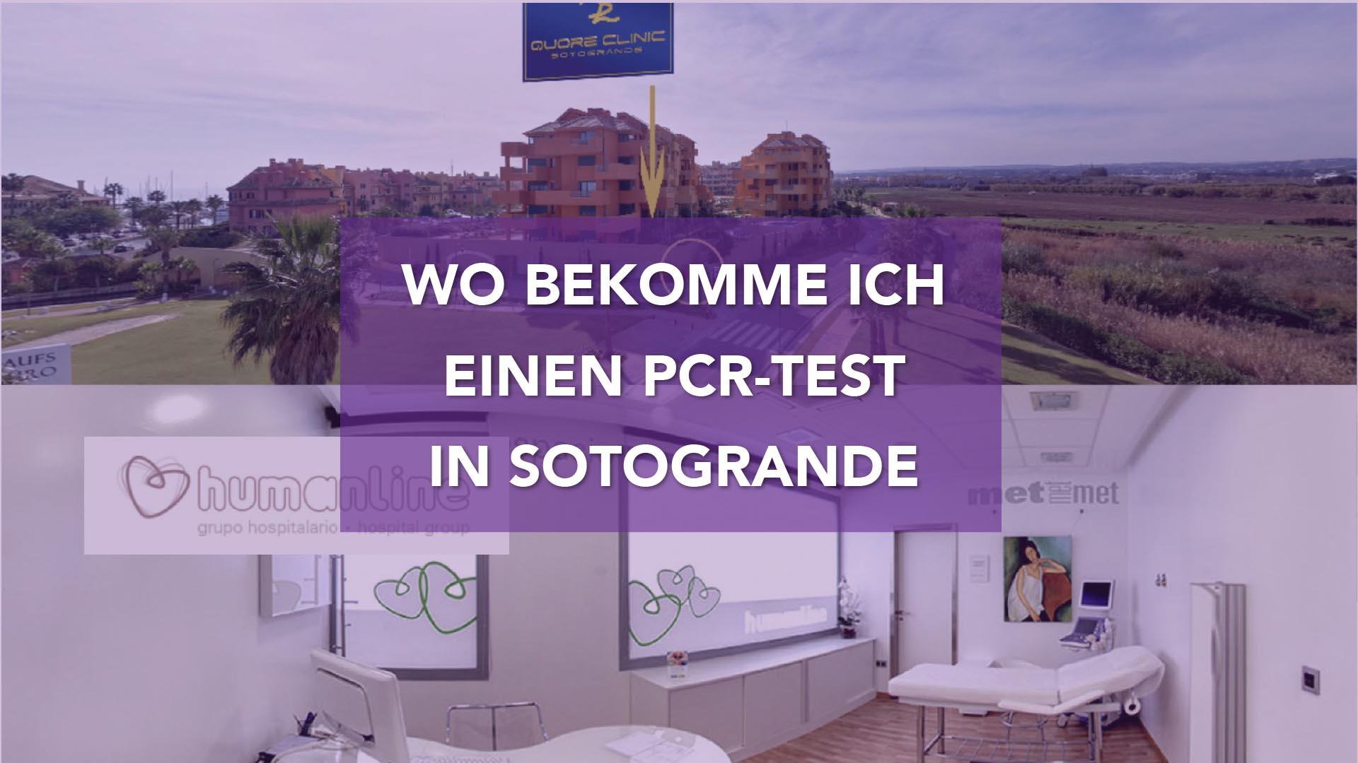 Wo bekomme ich einen PCR-Test in Sotogrande