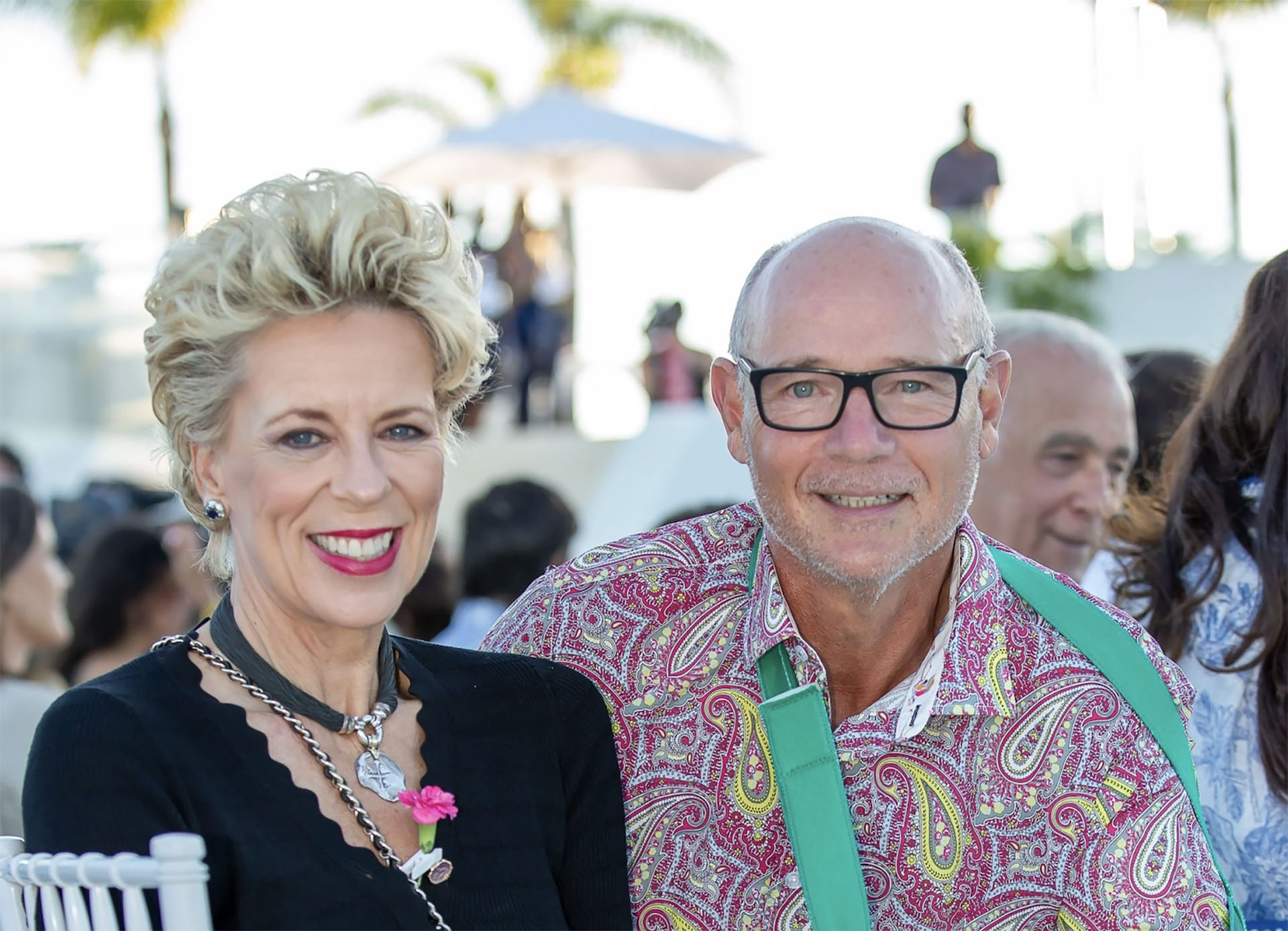 Stephanie Noll & Charles Gubbins at SO/Sotogrande Hotel Opening