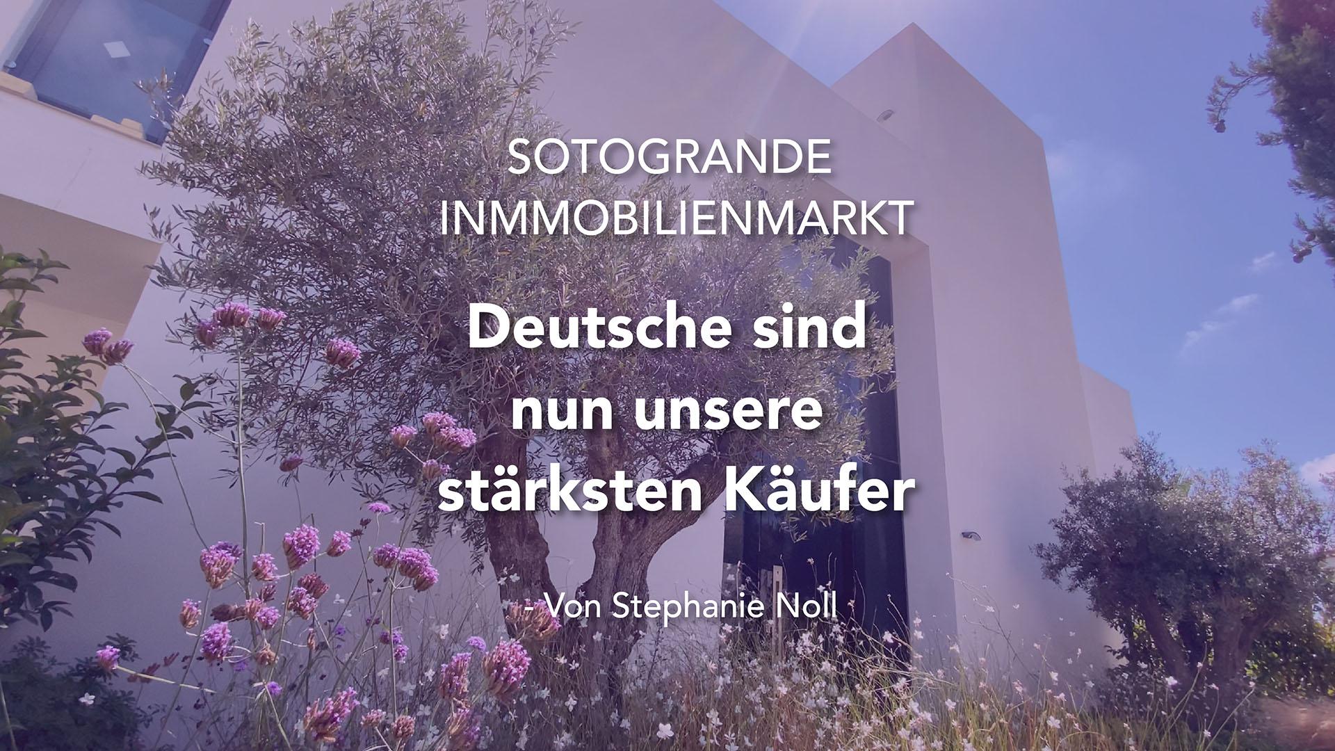 Deutsche sind nun unsere stärksten Käufer -Von Stephanie Noll Sotogrande